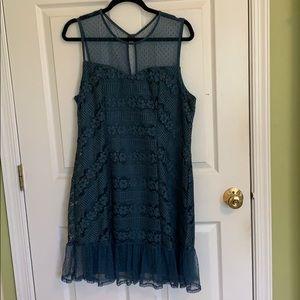 Teal mermaid dress